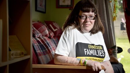 Rehabilitated ex-offender and alcoholic, Liz Ellis, who is now volunteering with Ormiston Families.P