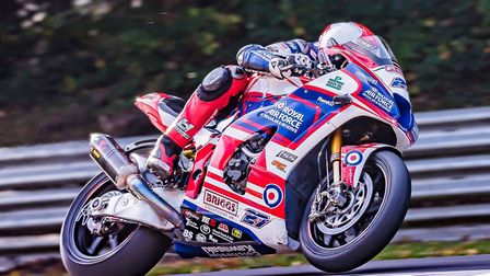 Jake Dixon secured second place at Brands Hatch in the British Superbike Championship. Picture: Barr