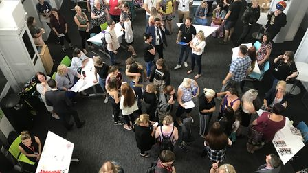 Norfolk students collect their GCSE results. Provisional results show the county performed above the