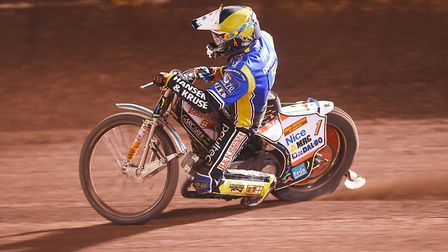 Niels-Kristian Iversen top scored for King's Lynn Stars in the first leg of the Knock-out Cup Final