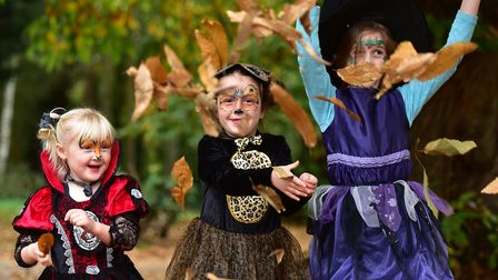 The Fairyland trust's Real Halloween event at Holt Hall.Ruby Harvey, Maggie Richmond and Ellie Richm