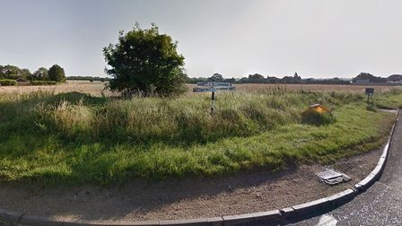 The land in Great Ellingham that new homes would be built on under plans submitted by Flagship Housi