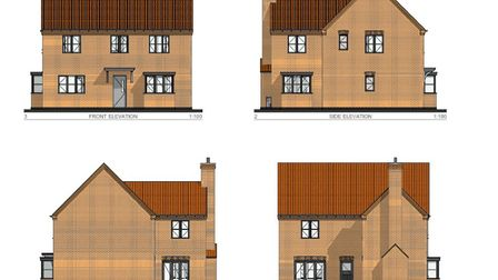 Flagship Housing has submitted plans to build 95 new homes on land in Great Ellingham. Picture: Brec