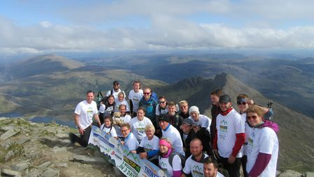The Hilltop team at the top of Mt Snowdon. PHOTO: Hilltop