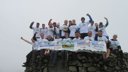 The Hilltop team at the top of Scafell Pike. PHOTO: Hilltop