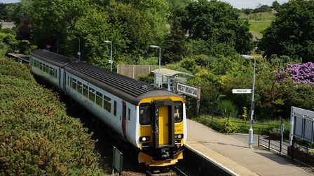 A Greater Anglia Train on the Bittern Line coming into West Runton station. Picture: MARK BULLIMORE