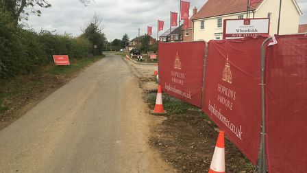 Hopkins Homes is currently building 22 new homes at Wheatfields, on Harvey Lane, in Dickleburgh. Pic