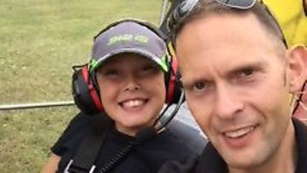 James Pulford and his son Kai. Picture: SUPPLIED BY THE FAMILY