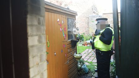 Police raid a property in Albert Place, Norwich.Picture: ANTONY KELLY