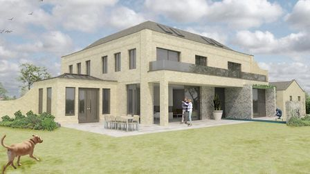How the Keables' self build will look, after plans were approved by the local authority. Pic: Kevin