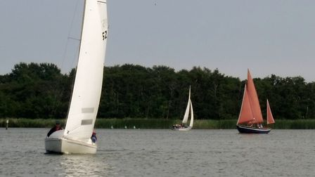 Boats being used by the Nancy Oldfield Trust to take people on the Broads. Photo: Nancy Oldfield Tru