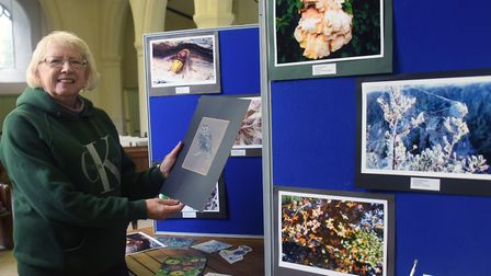 Vivienne Clifford-Jackson, a friend of Diane Robinson, sets up an exhibition at Hethel Church of Dia