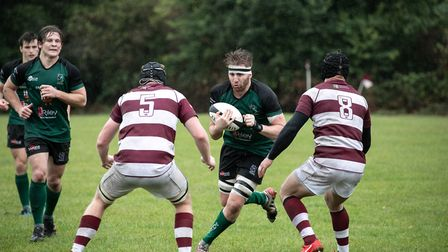 Royden Miller on the charge for North Walsham against Ruislip. Picture: Hywel Jones