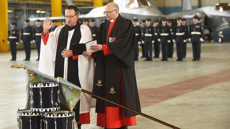 The 617 Sqn at RAF Marham received their new standard in a special parade at the Norfolk base. Pictu