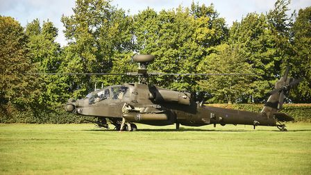 Students and staff the Mildenhall College Academy were given the chance to watch an Army Apache Heli