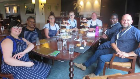 Some of the young people from the MINT course during a visit to Barnham Broom. L-R: Chloe Pitman, Ri