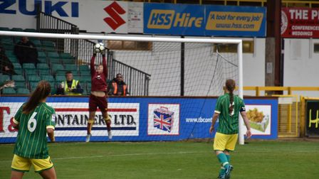 Norwich keeper Hope Armstrong - safe hands Picture: Brian Coombes