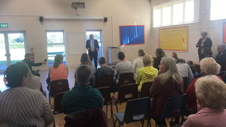Andrew Aalders-Dunthorne, principal of CMAT, addressing parents and children at Winterton Primary Sc