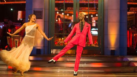 Danny John Jules opened the series with the first of many dances making glaring nods to the celebrit