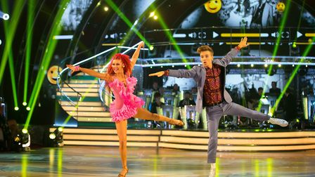 Joe Sugg enjoyed a pigeonhole-ing for the first dance of the series, with his YouTube status plaster