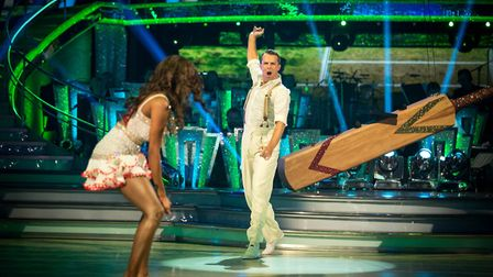 Cricketer Graeme Swann danced a cricket-themed Samba to the TMS theme tune. I wonder where they get