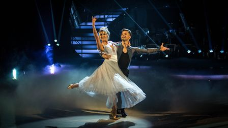 Ashley Roberts, top of the leaderboard with Faye Tozer, did the Viennese Waltz. Two ex-popstars gett