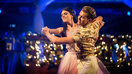 A Waltz from Lauren, looking like she iss taking AJ to his first shcool prom. BBC - Photographer: GU