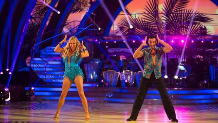 Steps star Faye Tozer topped the leaderboard - but still had to endure rehashing her old dance moves