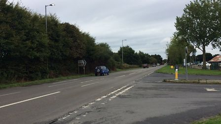 The crash happened on the A149 at Stalham, near Richardson's Boatyards. Pictures: David Bale