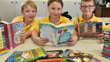 Carleton Rode school for the launch of the EDP book tokens Byline: Sonya Duncan Copyright: Archant 2