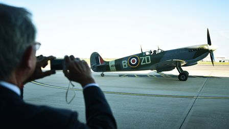 Spitfire at SaxonAir in Norwich.Picture: ANTONY KELLY