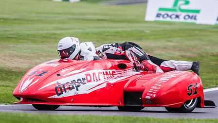 Simon Gilbert will have Eamon Mulholland in the sidecar at Assen Picture: Barry Clay