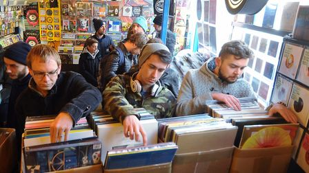 A thriving Soundclash in St Benedict's Street, Norwich on Record Store Day