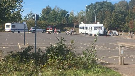 Travellers at Sprowston Park and Ride site. PIC: Peter Walsh