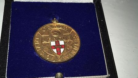 Peter Mendham's title-winning medal from Norwich City's 1985-86 season. PHOTO: Peter Mendham