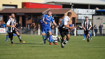 Shaun Bammant in action against Coalville. Picture: Shirley D Whitlow