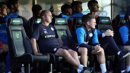 Wigan Athletic Manager Paul Cook during the Sky Bet Championship match at Carrow Road, NorwichPictur