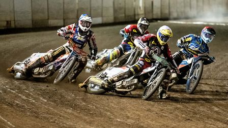 Action from heat 11 last night. Picture: Matthew Usher
