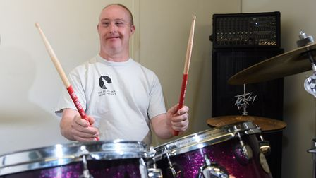 Tony Grint, one of the musicians who benefit from the Black Dog project, helping with mental health