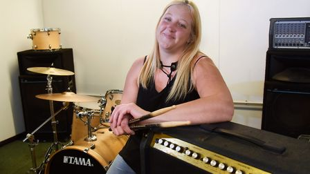 Kerri Madders, one of the musicians who benefit from the Black Dog project, helping with mental heal