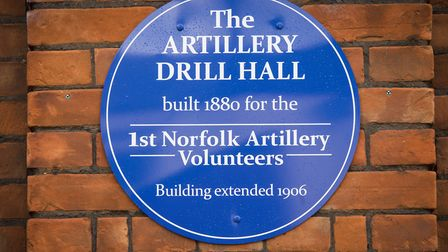 Blue plaque unveiling at Yarmouth's Drill hall.Picture: Nick Butcher