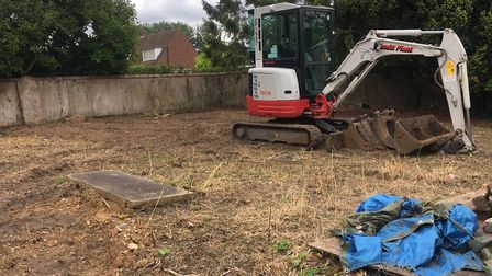 A new archaeological survey was recently undertaken on the former burial ground in Croft Lane in Dis