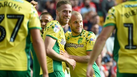 On top of their game - Marco Stiepermann, left, and Teemu Pukki Picture: PA
