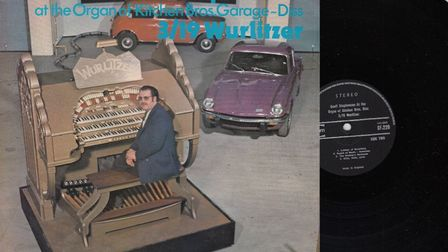 The album of Geoff Stephenson playing the Wurlitzer organ at Kitchen brothers garage in Diss. Pictur