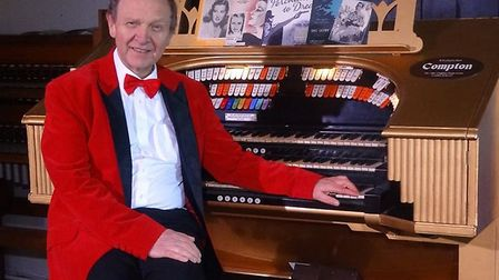 One of the last cinema organists David Ivory, from Suffolk, played the Diss organ in the 1970s. Pict