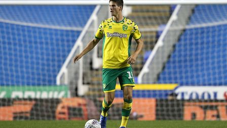 Timm Klose of Norwich in action during the Sky Bet Championship match at the Madejski Stadium, Readi