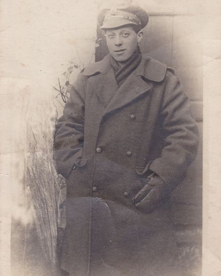 Unlikely hero: Ernest Seaman in the uniform of the Army Service Corps having been rejected as physic