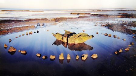 Wendy George's photo of Seahenge which was discovered on Holme Beach Picture: Wendy George