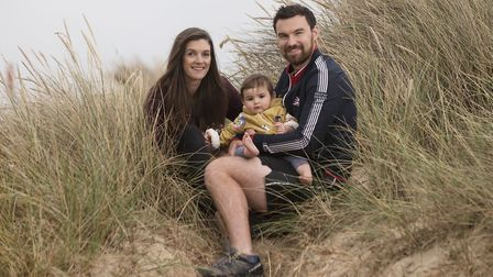 Daniel Majid who is training for the Invictus Games. Pictured with his partner Jess French and their