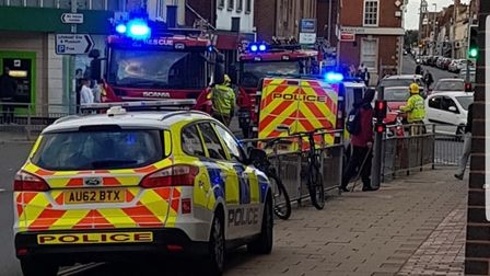 Two cars have been involved in a collision in Gorleston High Street.